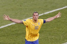 Zlatan double hands 10-man Sweden win over Faroes
